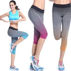 New Women High Waist Running Sports Joggers Skinny Slim Fit Trousers Pants 4 Colors Q5