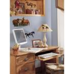 5 in. x 11.5 in. Wild Horses Peel and Stick Wall Decal, Brown