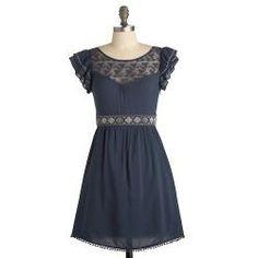 blue Indie dress