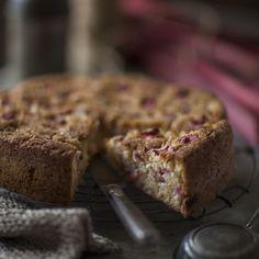 Rhubarb & Cream Cake — Belinda Jeffery