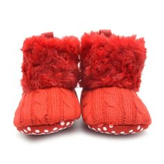 Awesome New Stylish Baby Kid Knitted Fur Snow Boots 5 Color Toddlers Soft Sole Short Boots Shoes 0-18 Months - $9.06 - Buy it Now!