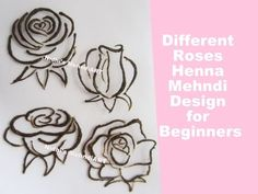 (30) How to Draw Different Style Roses Design with Henna Mehndi Cone Tutorial for Beginners - YouTube