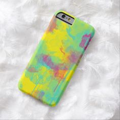 Summer abstract watercolor splatters iPhone 6 case