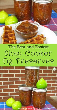 Slow Cooker Fig Preserves are the perfect way to use up an abundance of fresh figs and enjoy year round. Fig Recipes, Canning Recipes, Healthy Recipes, Jelly Recipes, Recipies, Healthy Slow Cooker, Slow Cooker Recipes, Crockpot Recipes, Fig Perserves Recipes