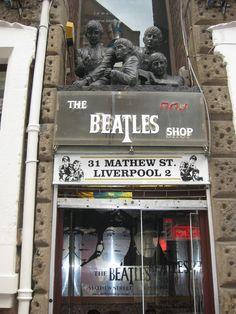 The Beatles Shop in Liverpool.  From the Pinterest board of George Vreeland Hill.