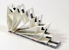 By annwyn dean 2014 accordion book, concertina book, handmade books, art Concertina Book, Accordion Book, Paper Book, Paper Art, Cut Paper, Paper Crafts, Up Book, Book Art, Atelier Theme