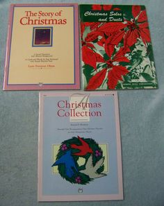 Lot 3 Story of Christmas Collection Solos Duets Sheet Music Books