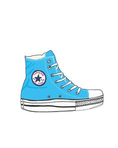 8 x 10 print - blue shoe. $23.00, via Etsy.
