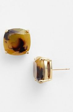 tortoise stud earrings / kate spade