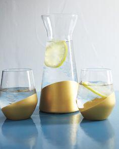 Gilded glass - for vases
