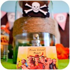 Pirate Fairy themed birthday party via Kara's Party Ideas KarasPartyIdeas.com Printables, cake, cupcakes, favors, games, and more! #fairyparty #tinkerbell #tinkerbellparty #pirateparty (14)