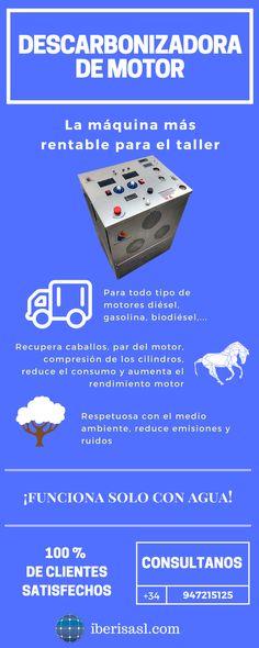 Descarbonizadoras de motor. Elimina la carbonilla del motor produciendo mejoras en consumo, rendimiento del motor, vibraciones, itv, etc