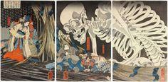 'Takiyasha the Witch and the Skeleton Spectre' by Utagawa Kuniyoshi (1844).