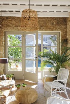 On the Costa Brava, in Catalonia, there is a small town of Pals, it is here that this cozy stone house is located. But such a look it got only recently. ✌Pufikhomes - source of home inspiration Living Room Decor Country, Country House Interior, French Country Living Room, Interior Design Living Room, French Decor, French Country Decorating, Old Country Houses, Cottage Interiors, Beautiful Interiors