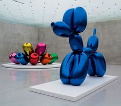 'Tulips' and 'Balloon Dog (Blue)'- Jeff Koons