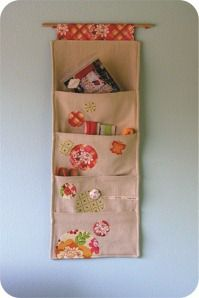 organizador de tecido com bolsos