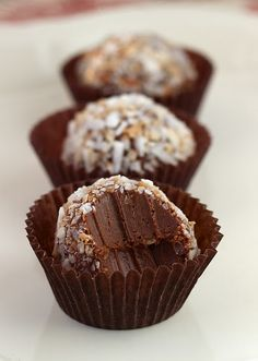 Chocolate Coconut Truffles....these sound so good!