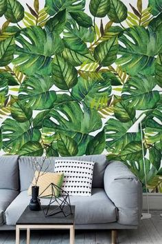 tropical leaf wallpaper - Google Search