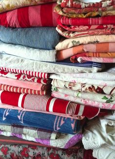 vintage textiles from Red Ticking . . .
