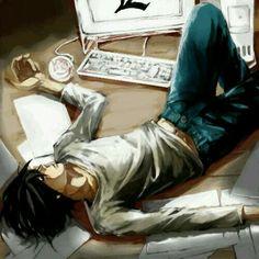 Lawliet, L, death note, and anime Bild Death Note L, Death Note Anime, Death Note Fanart, Full Metal Alchemist, Shinigami, Blue Exorcist, Attack On Titan, L Ryuzaki, Dead Note
