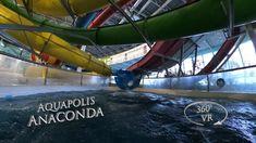 Napfényfürdő Aquapolis Szeged Anaconda (blue) 360° VR POV Onride Anaconda, Water Slides, Vr, Blue, Green Anaconda