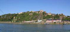 Fortress Ehrenbreitstein as seen from Koblenz.