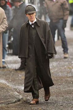 Benedict Cumberbatch and Martin Freeman don dapper Victorian costumes for Sherlock Christmas special