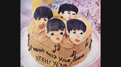 Original Photo From 1960's Woman's Day Mag of Chef Margaret Fulton's Famous BEATLES Birthday CAKE.