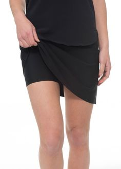 Our Lifeguard Skirt with Shorts Attached gives extra coverage for swim, sport and resort. It's comfortable and sleek fit makes it ideal for wearing just as a swim bottom, or matching it with one of our Swim Tops. The fabric is made of UPF 50+ technology p