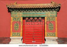 oriental red gate inside Beijing Forbidden City, China by mary416, via Shutterstock