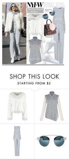 """NYFW Street Style-Martha Graeff in BCBG"" by kusja ❤ liked on Polyvore featuring BCBGMAXAZRIA, NIKE, StreetStyle, NYFW, fashionWeek, newyorkfashionweek and PolyvoreNYFW"
