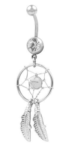 Sterling Silver Clear Dream Catcher Belly Button Navel Ring: http://www.amazon.com/Sterling-Silver-Clear-Catcher-Button/dp/B005AJZ3E4/?tag=vietrafun-20