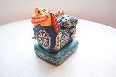 Handmade Terra-Cotta Clay Alebrije by thevintagejesus on Etsy https://www.etsy.com/listing/246785824/handmade-terra-cotta-clay-alebrije