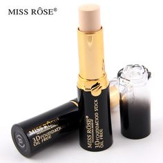 Miss rose  brand natural oil free smooth concealer face foundation stick Roses shape tube beauty professional makeup cosmetic