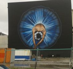Artist Owen Dippie - Back wall of Isaac Theatre Royal - Christchurch, New Zealand 2014.