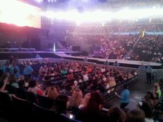 Our amazing seats at the justin bieber concer 2013. Original post from cj bata