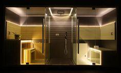 Jacuzzi Sasha – Luxury Home Spa Combines a Sauna, Shower and a Hammam Home Spa Room, Spa Rooms, Outdoor Sauna, Jacuzzi Outdoor, Sauna Shower, Jacuzzi Hot Tub, Sauna Room, Luxury Homes, Steam Room