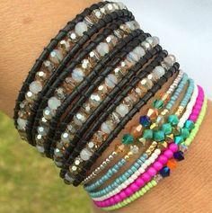 wikkelarmband en gekleurde armbandjes fijne kraaltjes
