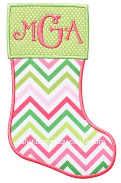 "Christmas Stocking Applique Design Sizes include: 4x4 hoop (2.43"" x 3.89"") 5x7 hoop (4.27"" x 6.90"") 6x10 hoop (5.89"" x 9.56"")"
