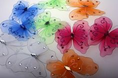 Бабочки из капрона / X-Style