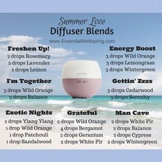 Summer Love Diffuser Blends doTERRA to order oils: Essential Oil Diffuser Blends, Doterra Essential Oils, Natural Essential Oils, Doterra Diffuser, Natural Oils, Doterra Blends, Yl Oils, Diffuser Recipes, Aromatherapy Oils