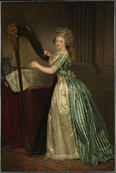 Self-Portrait with a Harp Rose Adélaïde Ducreux (French, Paris 1761–1802 Santo Domingo) Date: 1791