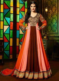 Multicolored Amyra Dastur Floor Length Anarkali