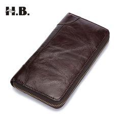 man of HIBO Luxury Male Leather Purse Men's Clutch Wallets Handy Bags Business Carteras Mujer Wallets Men Brown Dollar Price * AliExpress Affiliate's buyable pin. Click the VISIT button for detailed description on www.aliexpress.com #Men'sWallets - Genuine Leather