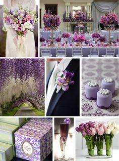 Frühling Hochzeit 2014 Hochzeitsfarben und Trends Lila Hochzeitsdeko und Blumen Frühling Hochzeit 2014  Hochzeitsfarben und Trends
