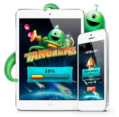 Tanglers – iOS game redesign by Alexander Toporov , via Behance
