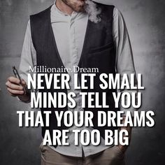 Your dreams can be as big as you like. Dream big, break them down into small steps and start implementing the new habits and rituals daily  via @successdiaries