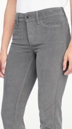 Not Your Daughters Jeans Straight Leg Gray Corduroys Women's Size 14 NWT $114 #notyourdaughtersjeans #BootCutStraightLeg