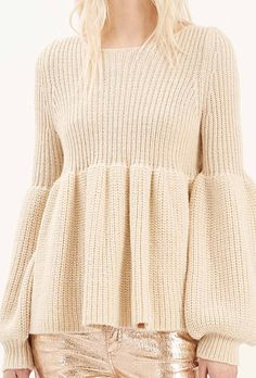 Adorable Frilling Hemline Sweater In Grey - Retro, Indie And Unique Fashion Winter Sweaters, Sweater Weather, Sweaters For Women, Knitwear Fashion, Crochet Fashion, Angora, Cardigan Pattern, Mode Style, Unique Fashion
