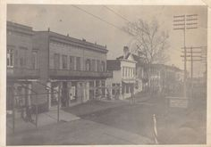 Bay Street, facing east, downtown, late 1800s